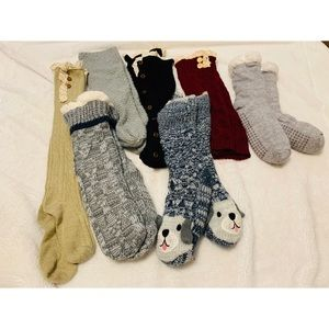 Thick socks and leg warmers lot